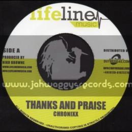 "Life Line Music - 7"" - Thanks & Praise / Chronixx + Another Bill Again / Exco Levi"