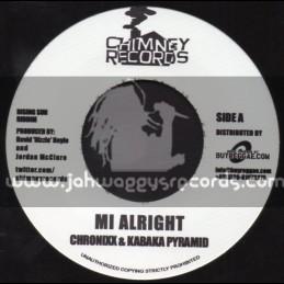 "Chimney Records-7""-Mi Alright / Chronixx & Kabaka Pyramid"