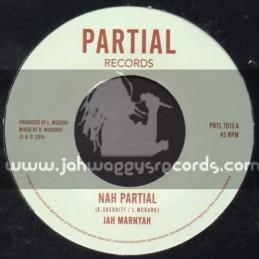 """Partial Records-7""""-Nah Partial / Jah Marnyah"""
