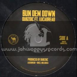 "Dankali Records-7""-Bun Dem Down / Dubzoic Feat. Lucadread"