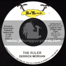 "Hop Records-7""-The Ruler / Derrick Morgan + Food For Love / The Inventors"