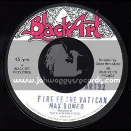 """Black Art-7""""-Fire Fe The Vatican / Max Romeo + Leggo / Jah Lion"""