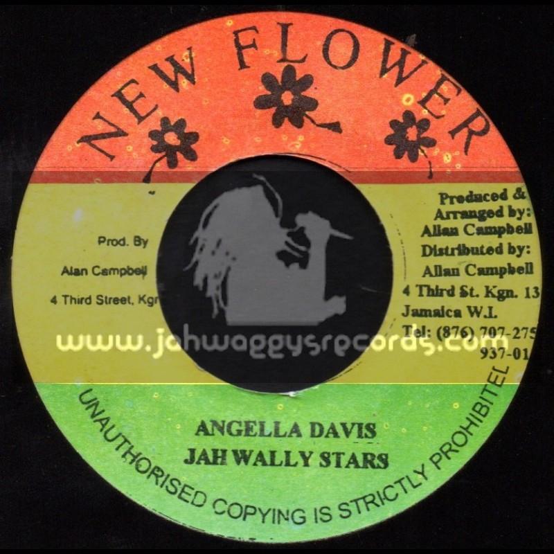 "New Flower-7""-Angella Davis + Nelson Mandella / Jah Wally All Stars"