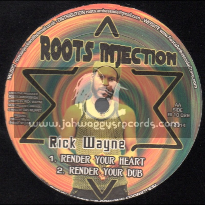 """Roots Injection-10""""-Love Jah And Live + Render Your Heart / Rick Wayne"""