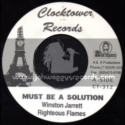 "Clock Tower Records-7""-Must Be A Solution / Winston Jarrett & The Flames"