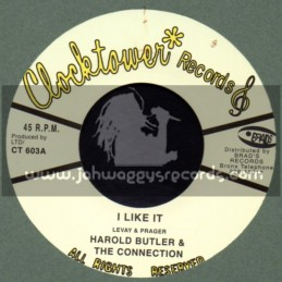 """Clock Tower Records-7""""-I Like It / Harold Butler & The Connection"""