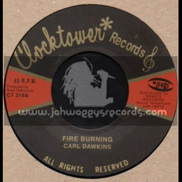 "Clock Tower Records-7""-Fire Burning / Carl Dawkins"