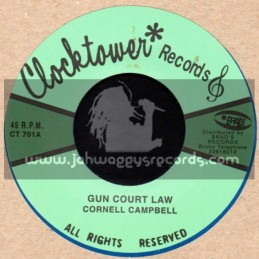 "Clock Tower Records-7""-Gun Court Law + Gifted & Black / Cornell Campbell"