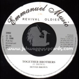 """Emmanuel Music-7""""-Stop Your Fussing & Fighting + Together Brothers / Dennis Brown"""