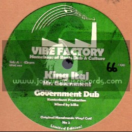 """Vibe Factory-10"""" Dubplate-Mr Government Man / King Ital + Conscious Move / Jah Olli"""