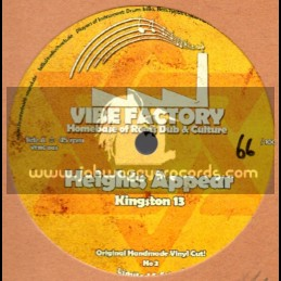 """Vibe Factory-10"""" Dubplate-Kingston 13 / Heights Appear"""
