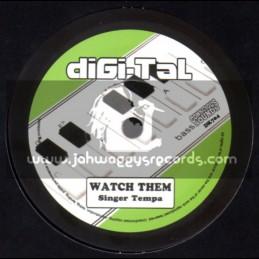 """Digi-Tal-7""""-Watch Them / Singer Tempa - Conscious Sounds"""