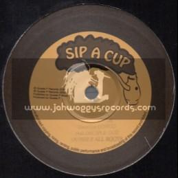 """Sip A Cup Records-10""""-Jah Disciple / Daweh Congo + Conditions / Robbie Valentine"""