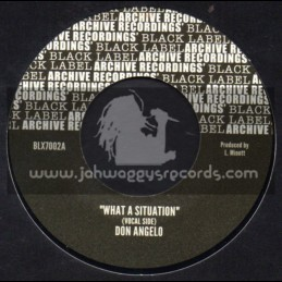 """Archive Recordings-7""""-What A Situation / Don Angelo"""