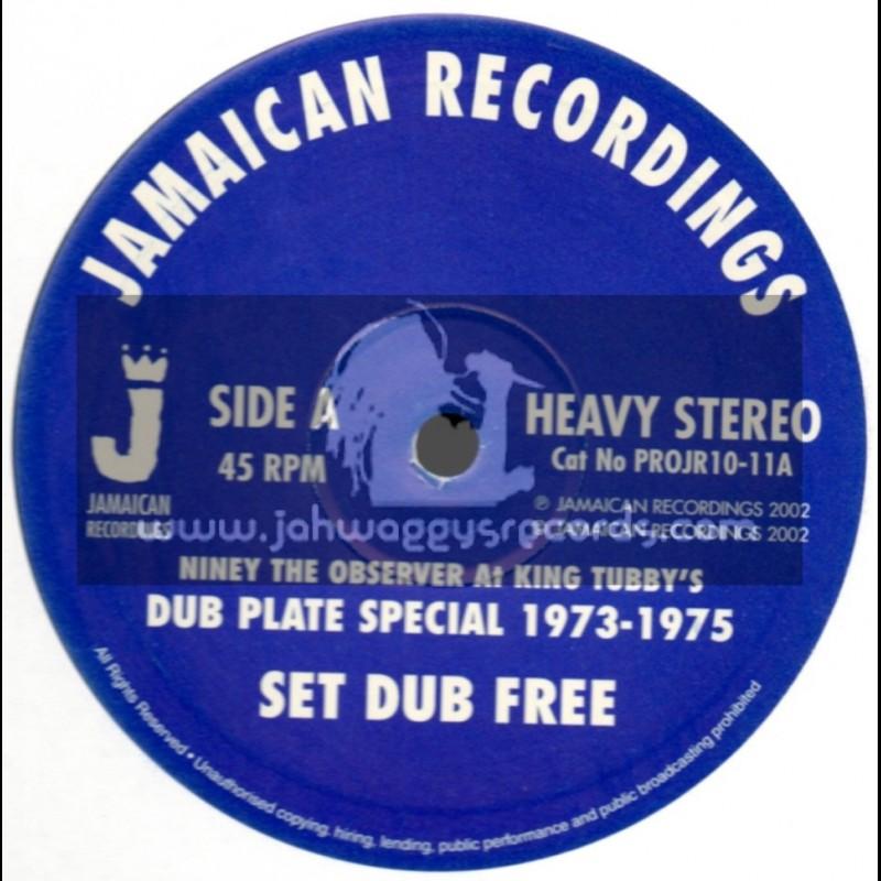 "Jamaican Recordings-10""-Set Dub Free + Dub Born Free / Niney The Observer At King Tubbys 1973 - 1975"