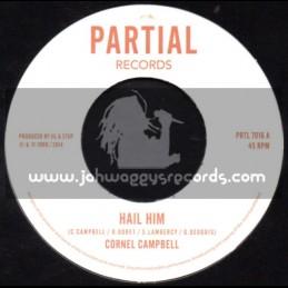 "Partial Records-7""-Test Press-Hail Jah / Cornel Campbell ~ Restless Marshaits"