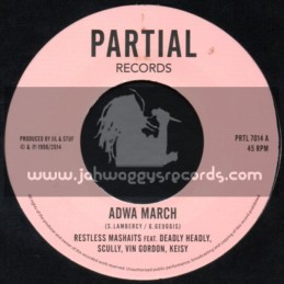 "Partial Records-7""-Test Press - Adwa March / Restless Marshaits"
