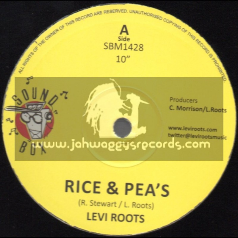 """Sound Box-10""""-Rice And Peas / Levi Roots"""