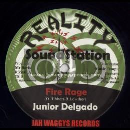 """REALITY SOUNDSTATION-12""""-FIRE RAGE / JUNIOR DELDADO"""