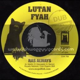 """Charlies Records-7""""-Ras Always / Lutan Fyah"""