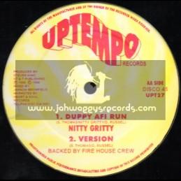 "Uptempo Records-12""-Duppy A Fi Run / Nitty Gritty - Firehouse Crew"