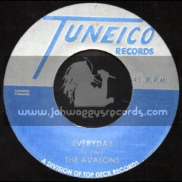 "Tuneico Records-7""-I Love You + Everyday / The Avalons"