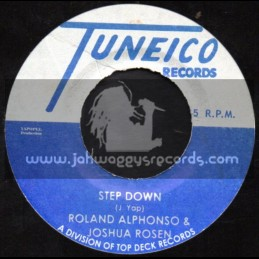 "Tuneico Records-7""-Step It Down / Roland Alphonso & Joshua Rosen + Turn To The Almighty / Jackie Opel"