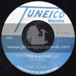 """Tuneico Records-7""""-A Promise Is A Comfort To A Fool / Larry & Ferdy + Never To Yong To Learn / Andy & The Avalons"""