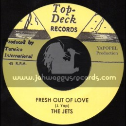 """Top Deck Records-7""""-Fresh Out Of Love / The Jets + Only A Dream / Lee Venora"""