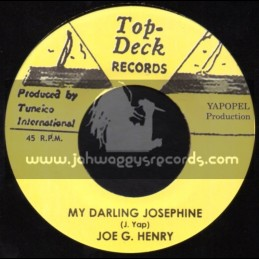 """Top Deck Records-7""""-My Darling Josephine + There She Goes / Joe G Henry"""