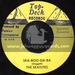 """Top Deck Records-7""""-Ska Boo Da Ba / The Skatlites + Birds And Bees / Ferdy Nelson"""