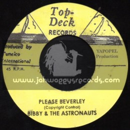 "Top Deck Records-7""-Please Beverley / Bibby & The Astronauts + Ghost Town / Skatlites"