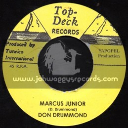 """Top Deck Records-7""""-Marcus Junior / Don Drummond + Valley Of Green / Jacke Opel"""
