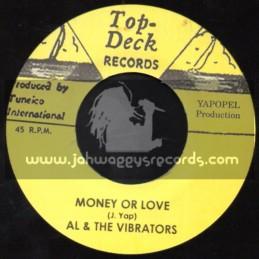 "Top Deck Records-7""-Money Or Love / Al & The Vibrators + Certainly / Ferdy Nelson"