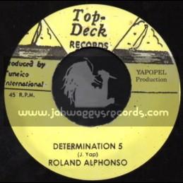 "Top Deck Records-7""-Determination 5 + A Shot In The Dark / Roland Alphonso"