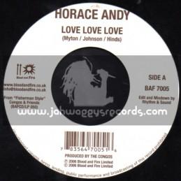 "Blood & Fire-7""-Love Love Love / Horace Andy + Fishermans Anthem / Dean Fraser"