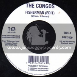 "Blood & Fire-7""-Fisherman / The Congos + Feed The Nation / Big Youth"