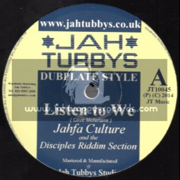 "Jah Tubbys-10""-Test Press-Listen To We / Jahfa Culture (Disciples) + Deliver The Goodness - Idren Natural (Unitone)"