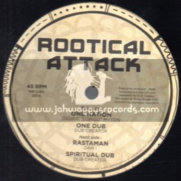 "Rootical Attack Records-12""-One Nation / Cedric Congo Myton + Rastaman / Dan I - Dub Creator"