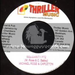 """Thriller Music-7""""-Solidarity Pt 2 / Michael Rose & Capleton"""