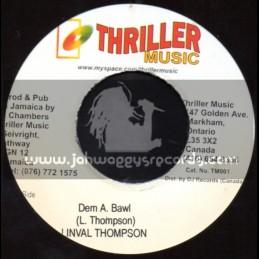 "Thriller Music-7""-Dem A Bawl / Linval Thompson"