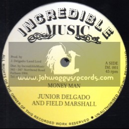 "Incredible Music-12""-Money Man / Junior Delgado & Field Marshall"