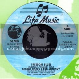 "Life Music-7""-Freedom Blues / George Nooks & Pad Anthony"