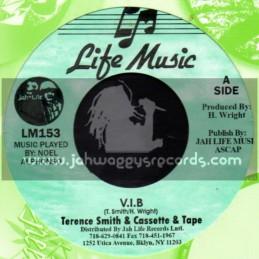 """Life Music-7""""-V.I.B / Terance Smith & Cassette & Tape"""