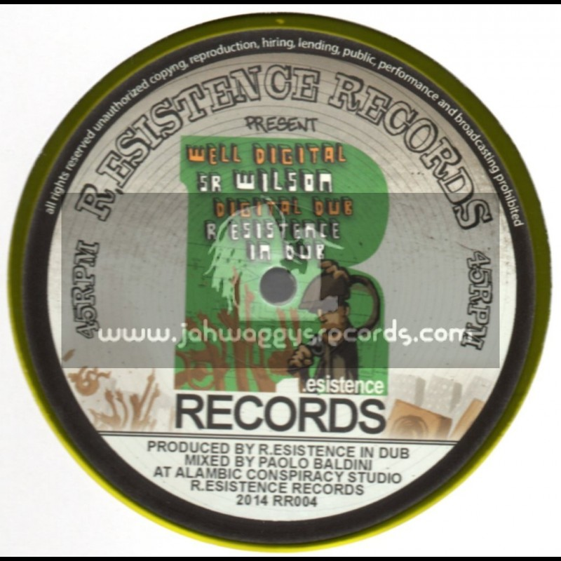 "R.Esistance Records-12""-Well Digital / Sr. Wilson + Dangerous Addiction / Jules I"