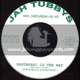 "Jah Tubbys-7""-Original Press-Rastafari Is The Way / Errol Bellot & Dixie Peach"