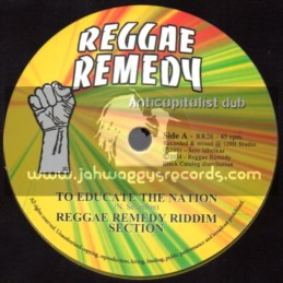 "Reggae Remedy-7""-To Educate The Nation + Move Weh Babylon / Reggae Remedy Riddim Section"