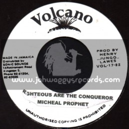 """Jah Guidance-7""""-Righteous Are The Conquerer / Michael Prophet"""