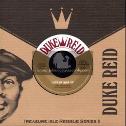 "Duke Reid-7""-Love Up Kiss Up / The Termites + I Wish It Would Rain / The Techniques"