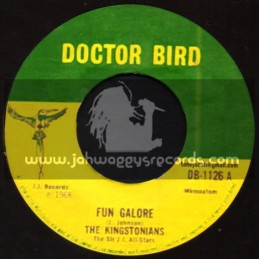"""Doctor Bird-7""""-Fun Galore + Crime Dont Pay / The Kingstonians"""